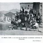 Primera marcha social en la plaza de Zarzalejo, el 18 de octubre de 1914