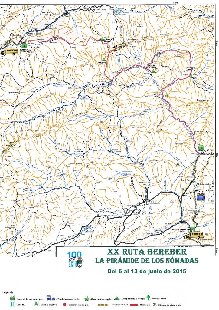 Mapa XX Ruta Bereber