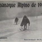 Cubierta del almanaque Alpino 1915 para costear obras ref  Giner