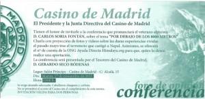 Conferencia Carlos Soria - Casino