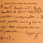 Francisco Giner de los Rios - Inventor del Guadarrama