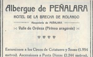 Revista Peñalara hace 100 años: NUESTRO NUEVO REFUGIO EN EL PIRINEO