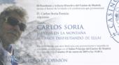 Día 29 de enero, conferencia de Carlos Soria