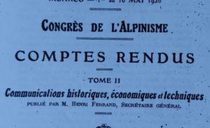 Revista Peñalara hace 100 años: Exposición y Congreso Internacional de Alpinismo en Mónaco