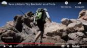 """Reto solidario """"Soy Montaña"""" en el Teide"""