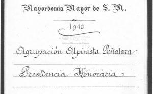 Revista Peñalara hace 100 años: Se otorga a la Sociedad Peñalara el título de Real